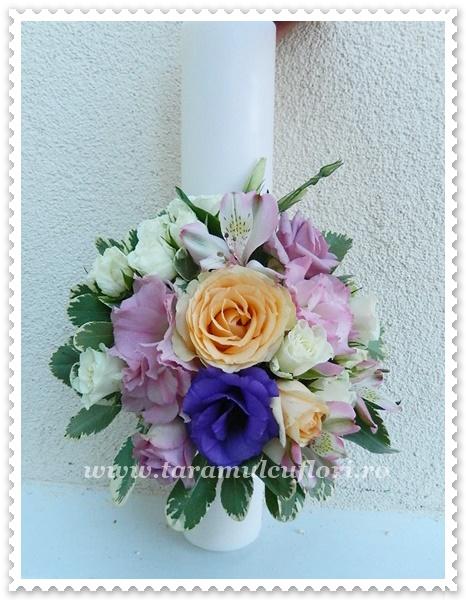 Lumanari de nunta scurte colorate.0270